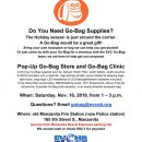 Emergency Go Bag Supplies Sale Returns to Manzanita Saturday Nov. 16th